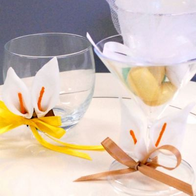 Calla Lily Pick Wedding Favor Accessory