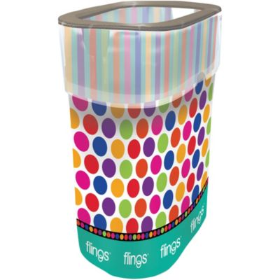 Polka Dots & Stripes Flings® Pop Up Trash Bin