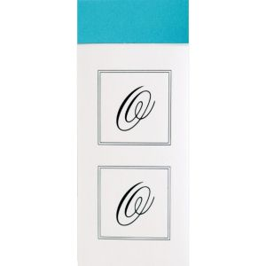 Monogram O Sticker Seals 30ct