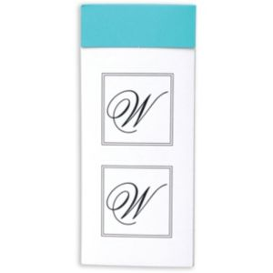 Monogram W Sticker Seals 30ct