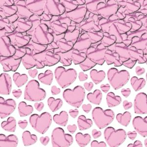 Light Pink Hearts Confetti