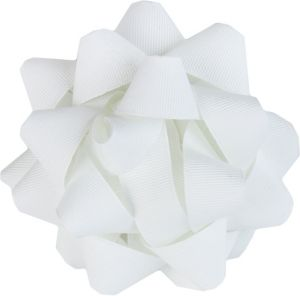 White Grosgrain Gift Bow