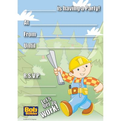 Bob the Builder Invitations 20ct