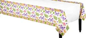In the Garden Paper Table Cover