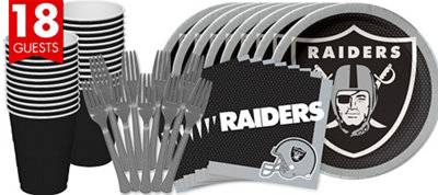 Oakland Raiders Basic Party Kit for 18 Guests