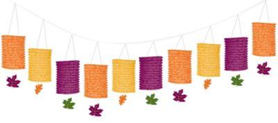 Fall Paper Lantern Garland