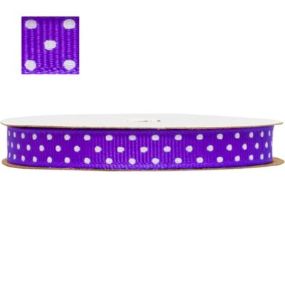 Purple Polka Dot Ribbon