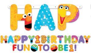 Sesame Street 1st Birthday Banners 2ct
