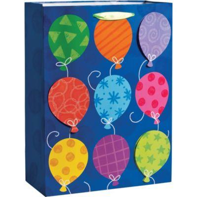 3D Glitter Balloons Gift Bag