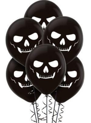 Black Skeleton Balloons 15ct