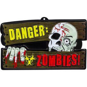 Vacuform Danger Zombies Sign