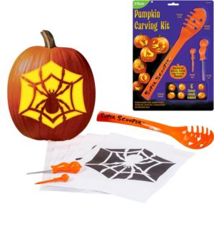 Super Scoop Pumpkin Carving Kit 9pc