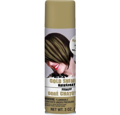 Gold Shimmer Hairspray 3oz