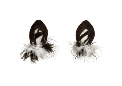 Zebra Ear Hair Clips
