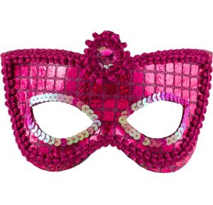 Prismatic Pink Tiled Masquerade Mask