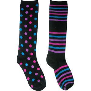 Mismatch Rock Knee High Socks