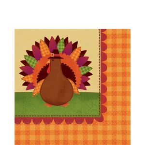 Turkey Dinner Lunch Napkins 36ct