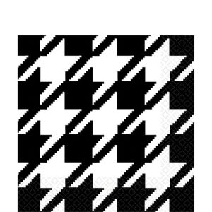Houndstooth Lunch Napkins 16ct
