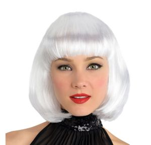 White Platinum Bob Wig with Bangs