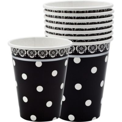 Damask & Polka Dot Paper Cups 18ct