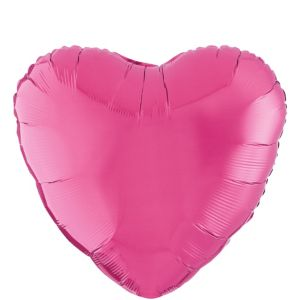 Bright Pink Heart Balloon