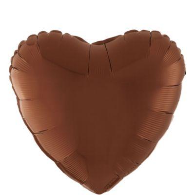 Chocolate Brown Heart Balloon