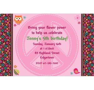 Custom Hippie Chick Invitations