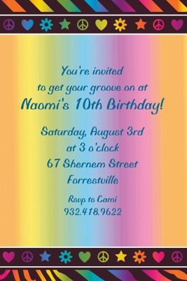Custom Neon Birthday Invitations Thank You Notes Party City