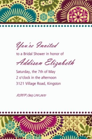 Custom Fashion Floral Invitations