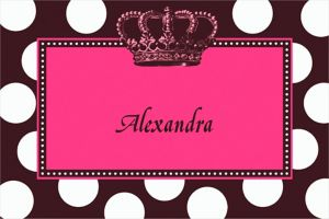 Custom Rocker Princess Thank You Notes