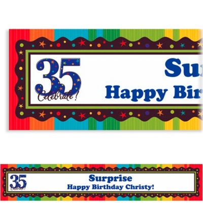 Custom A Year to Celebrate 35th Birthday Banner 6ft