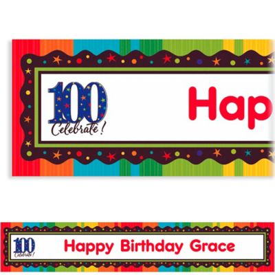Custom A Year to Celebrate 100th Birthday Banner 6ft
