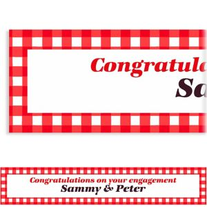 Custom American Summer Red Gingham Banner 6ft