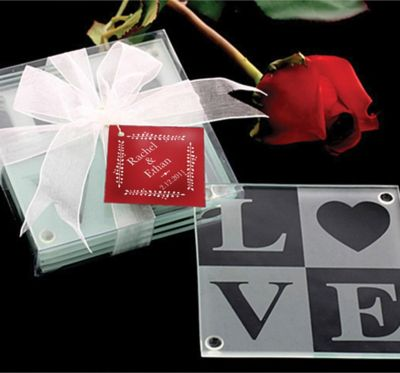 Love Glass Coaster 4ct