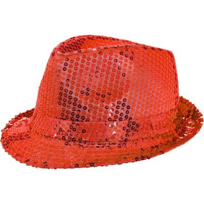 Red Sequin Fedora