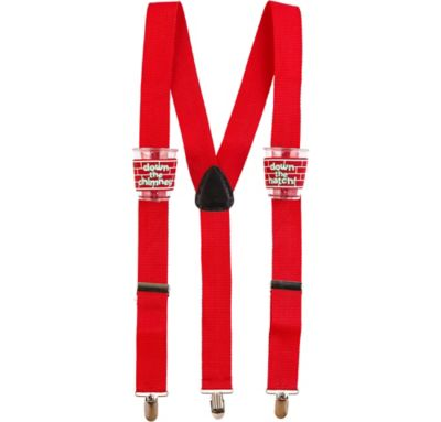Christmas Shot Glass Suspenders