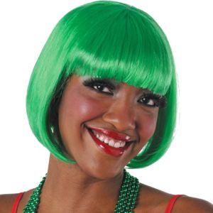 Green Bob Wig with Bangs
