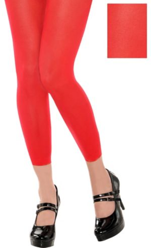 Red Footless Tights