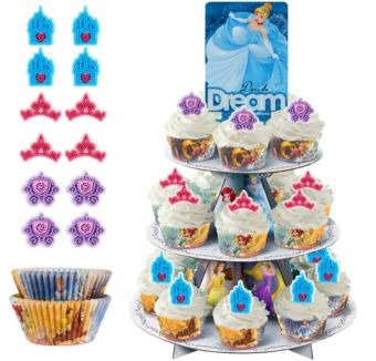 Deluxe Disney Princess Cupcake Kit for 24