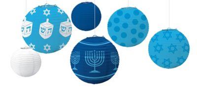 Hanukkah Paper Lanterns 6ct