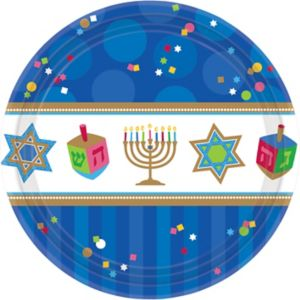 Hanukkah Celebrations Dinner Plates 18ct