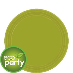 Eco Friendly Avocado Round Paper Dessert Plates 24ct