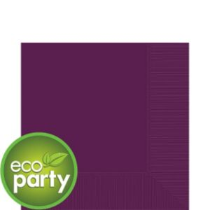 Eco-Friendly Plum Lunch Napkins 50ct