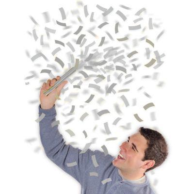 Silver Flutter Confetti Wands 6ct
