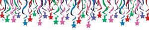 Multicolor Star Swirl Decorations 30ct