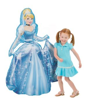 Giant Gliding Cinderella Balloon 48in