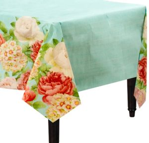 Blissful Blooms Paper Tablecover 54in x 102in