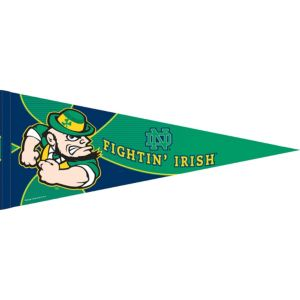 Notre Dame Fighting Irish Pennant Flag