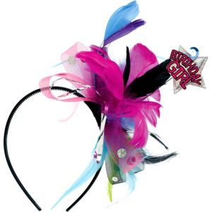 Birthday Girl Feather Headband
