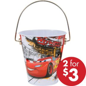 Cars Metal Pail